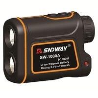 SNDWAY SW 1000A 1000M Laser Range Finder Scope Meter Speed Measurer Monocular Rangefinder 7X Distance Outdoor
