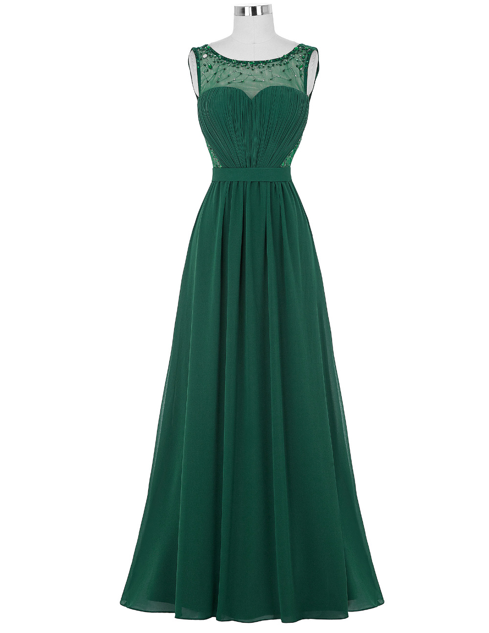 Emerald Green Long Prom Dress