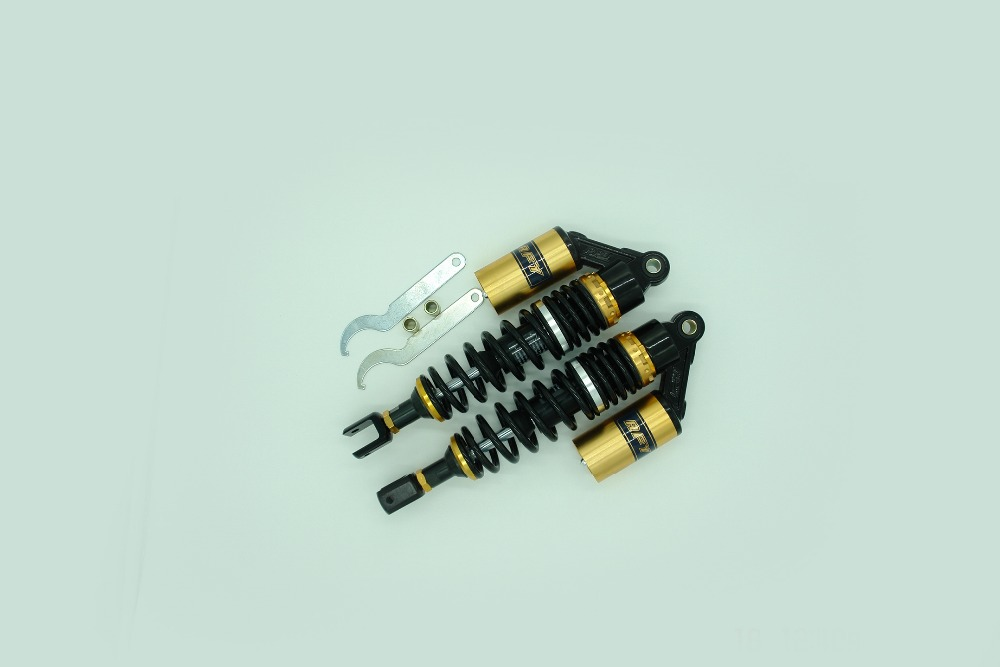 new all black+Gold 340mm 8mm spring rear air shock absorbers FOR cb400 99-11 vtec 92-98 sf xjr400 Dirt Gokart ATV MOTORCYCLE free shipping motorcycle accessories modified for honda cb400 1992 1998 vtec 99 07 new high water pump assembly