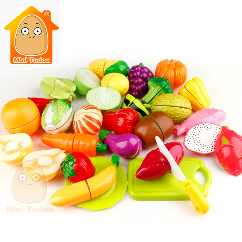 Girl Toys For Kids Cut Vegetables Toy Plastic Fruit Pretend Play Food Baby Kitchen Toys Miniature Food Game For Girls And Boys wooden kitchen toys for girls kids pretend play food eggs baby toys set yolk food eggs preschool educational toys for children