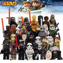 Star Wars The Last Jedi Yoda Obi-Wan Darth Vader Storm Building Block Compatible with LegoINGlys Starwars Kids Action Figure Toy