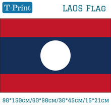 30*45cm Car Flag 90*150cm/60*90cm Laos Lao Peoples Democratic Republic National 3x5ft Hanging  Day 15*21cm