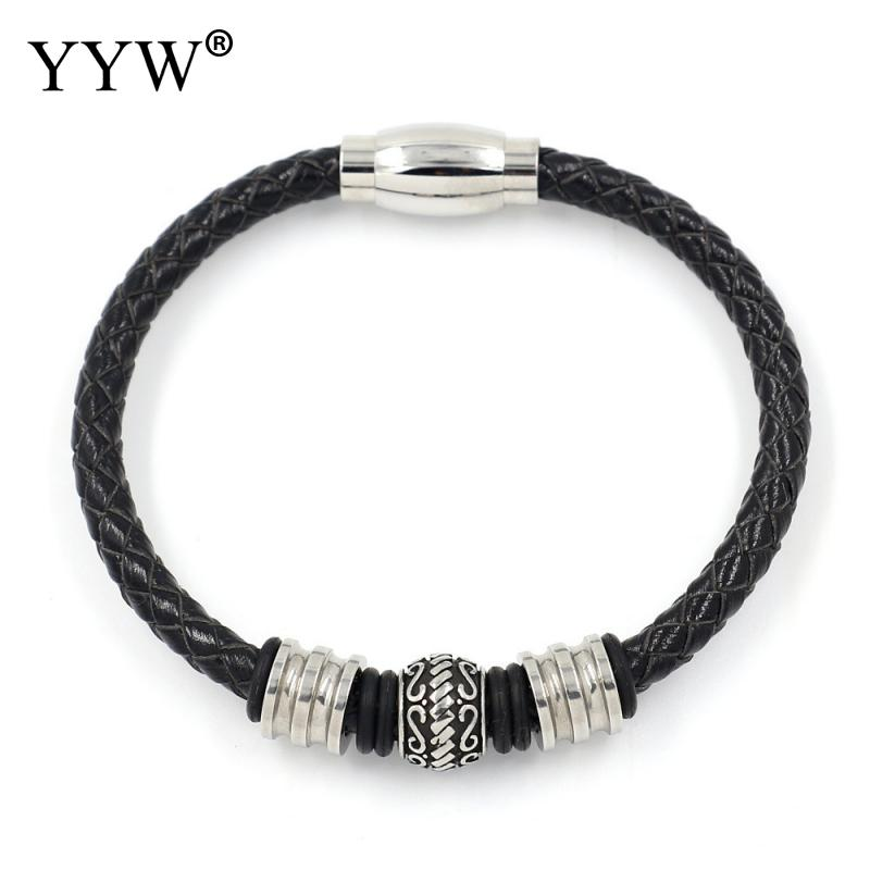 High Quality Braided Leather Bracelet Bangles For Men Erkek Bileklik 2018 Pulseira Masculina Jewelry Pulseras Mujer Moda 2018