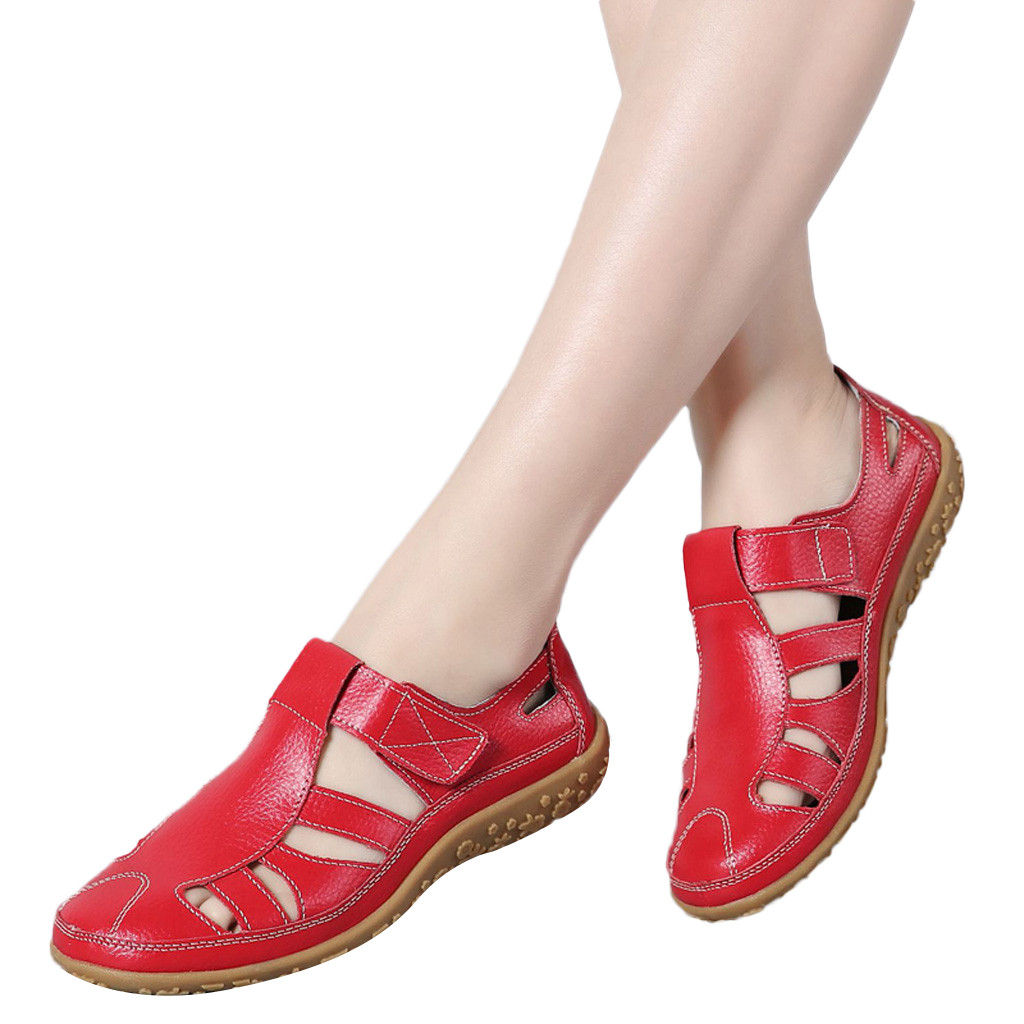 SAGACE Women s Sandals 2019 Summer Genuine Leather Handmade Ladies Shoe Leather Sandals Women Flats Retro Innrech Market.com