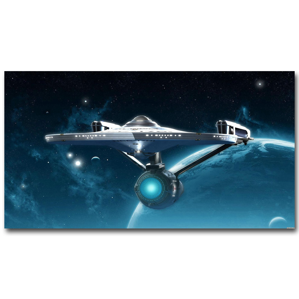 Star Trek Enterprise Spaceship Movie Art Silk Poster Print 13x24 24x43 inches