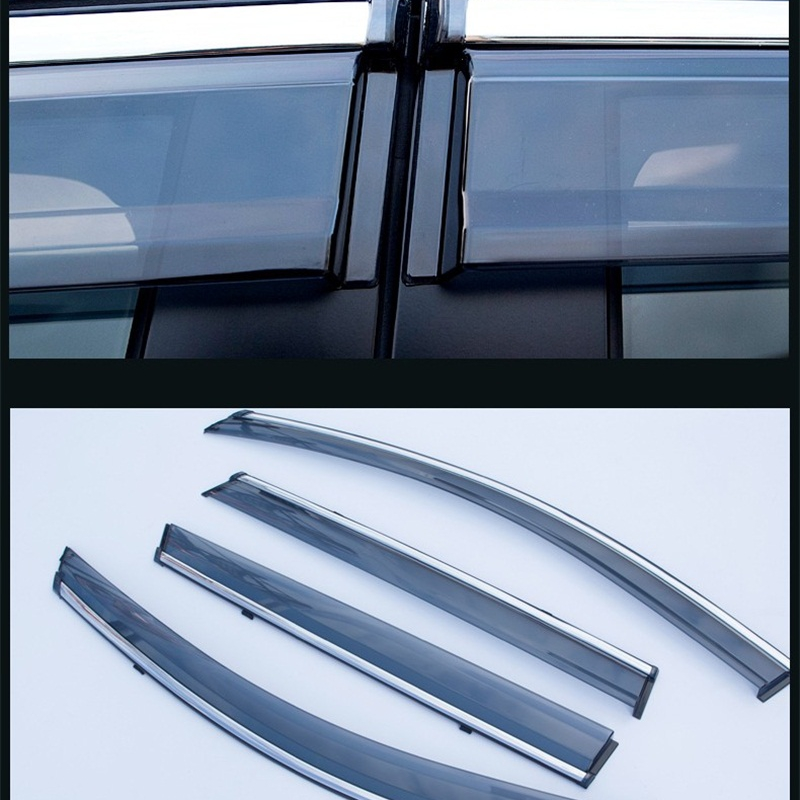 ABAIWAI Auto Exterior Accessories PC+Stainless Steel Car Visor Shades Awnings For Peugeot 301 308 408 508 4PCS Window Stickers держатели для туалетной бумаги brabantia держатель для туалетной бумаги платиновый