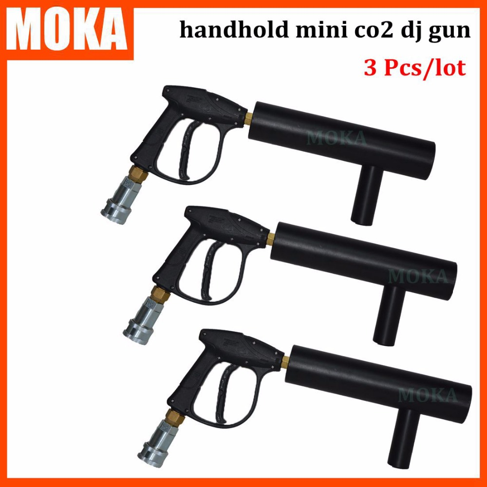 Подробнее о 3Pcs/lot DJ Co2 smoke machine Co2 Jet Co2 Cryo Cannon Machine Shot 7-8m Co2 Gas Free For 3M Hose handheld led co2 gun cryo led co2 jet machine pistol special effects co2 cannon guns free co2 gas hose