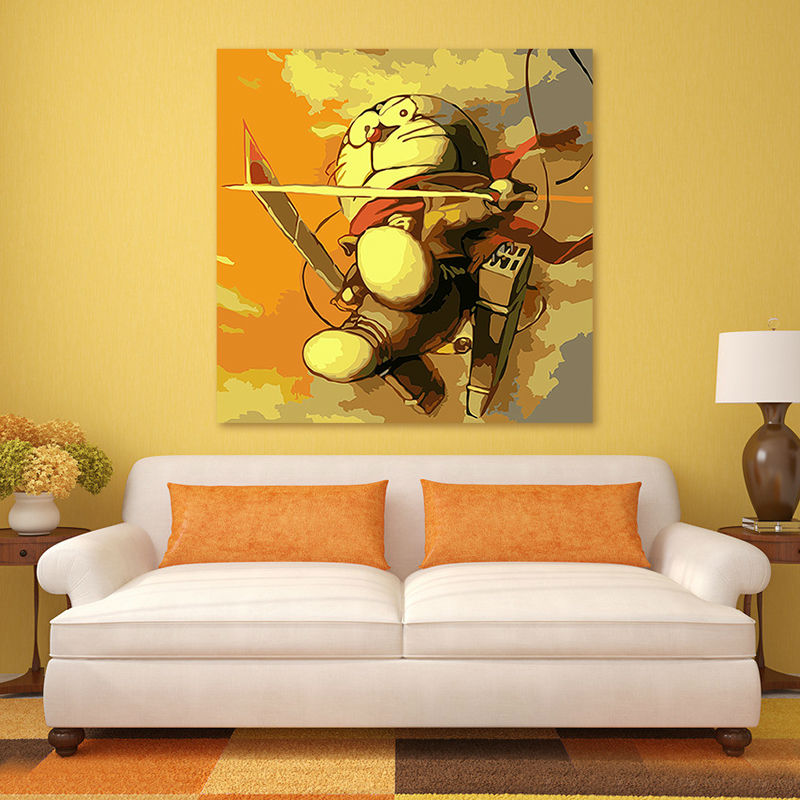 Japanese cartoon Doraemon wall poster picture framed diy oil painting on canvas modular digital paint by numbers kid 39 s room in Painting amp Calligraphy from Home amp Garden