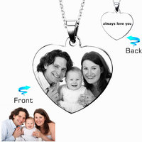 Custom Engraved Necklace Stainless Steel Engraving Blank Necklace Personalized Name Photo Jewelry Dropshipping