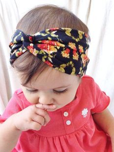 Floral Print Turban Headband Kids Top Knot Headband, Girls Headwrap Head band Hair Accessories Headwear bandeau bebe fille