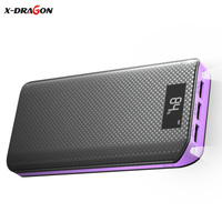 X DRAGON Portable 20000mAh Mobile Phone Chargers External Battery Pack Power Bank Charger For IPhone IPad