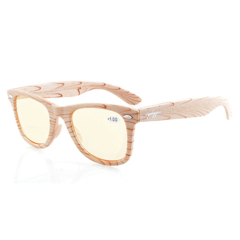 3be9103baf Detail Feedback Questions about CGS003 Eyekepper Readers Bamboo Wood Design  Classic Yellow Tinted Lenses Computer Glasses Computer Reading Glasses on  ...
