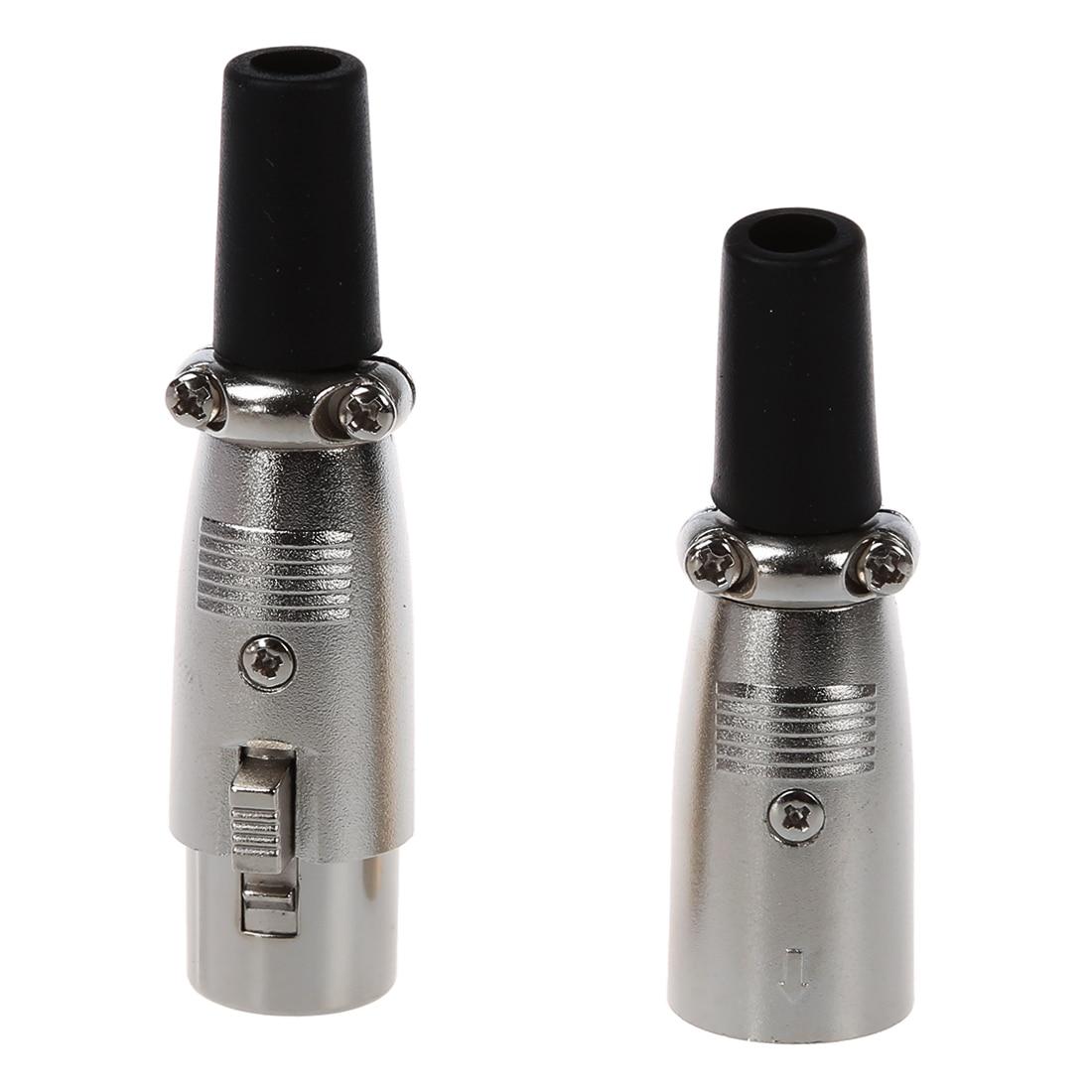 5 Pairs Male/Female 3 Pin XLR Jack Plug Microphone MIC Audio Connector 5 x 3 5mm 3 pole headphone replacement audio jack male plug soldering connector