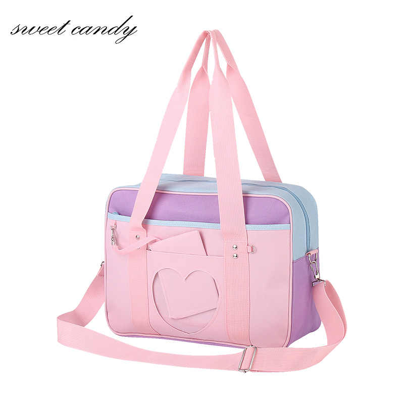 Style Pink Japanese Travel Shoulder School Bags For Women Girls  Large Capacity Luggage Organizer Handbags Totes with Cosplayer