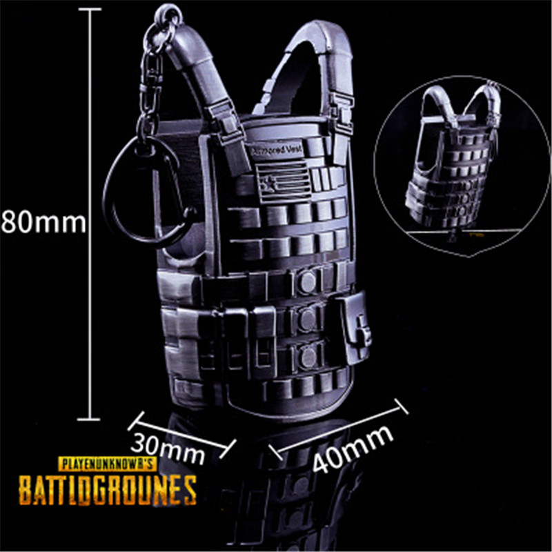Qualified Game Pubg Level 3 Vest Backpack Accessories Playerunknowns Battlegrounds Cosplay Props Alloy Armor Model Keychain Novelty & Special Use Costume Props