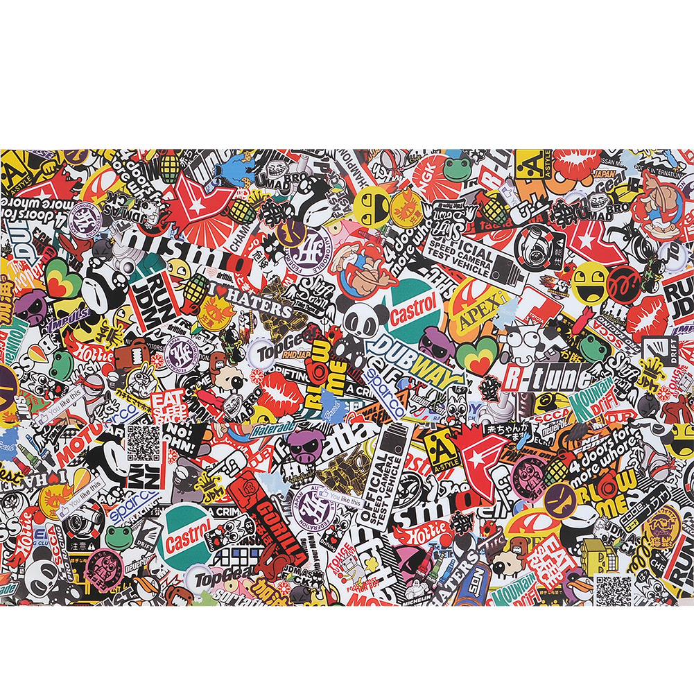 Car sticker wrap singapore - 30 X20 Pvc Sticker Bomb Graffiti Scrawl Wrap Sheet Decal For Car Motor Waterproof