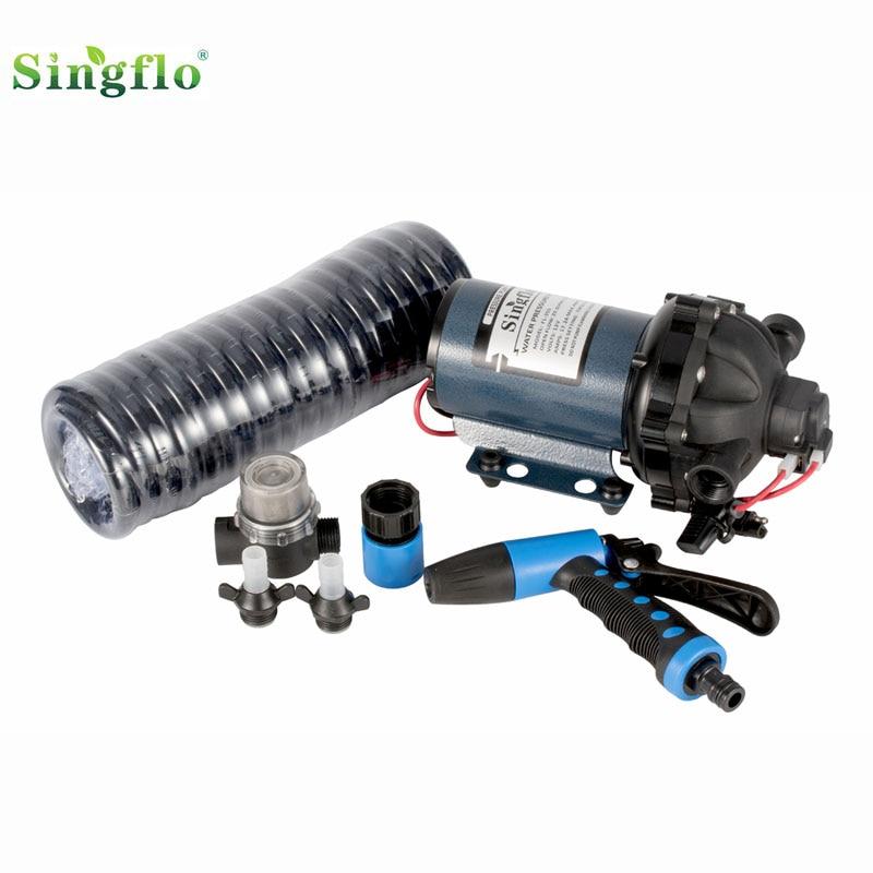 Singflo 12V 5-Chamber 70psi 20L/min water pressure pump Washdown Deck Pump Kit for Boat Marine все цены