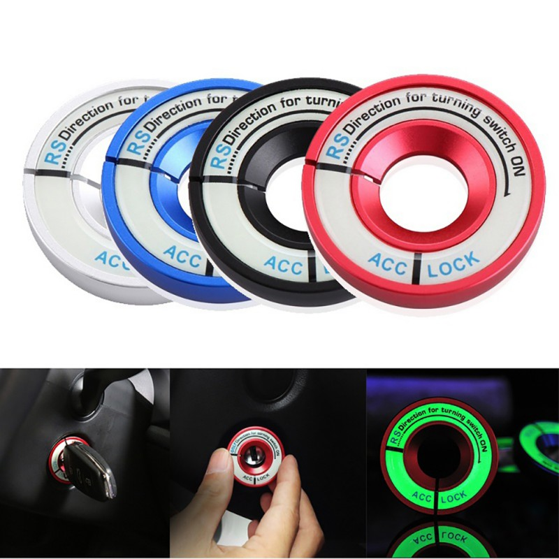 Car Glow Keyhole Sticker Luminous Hole Power Switch Car Sticker Universal Decor Light Circle circle