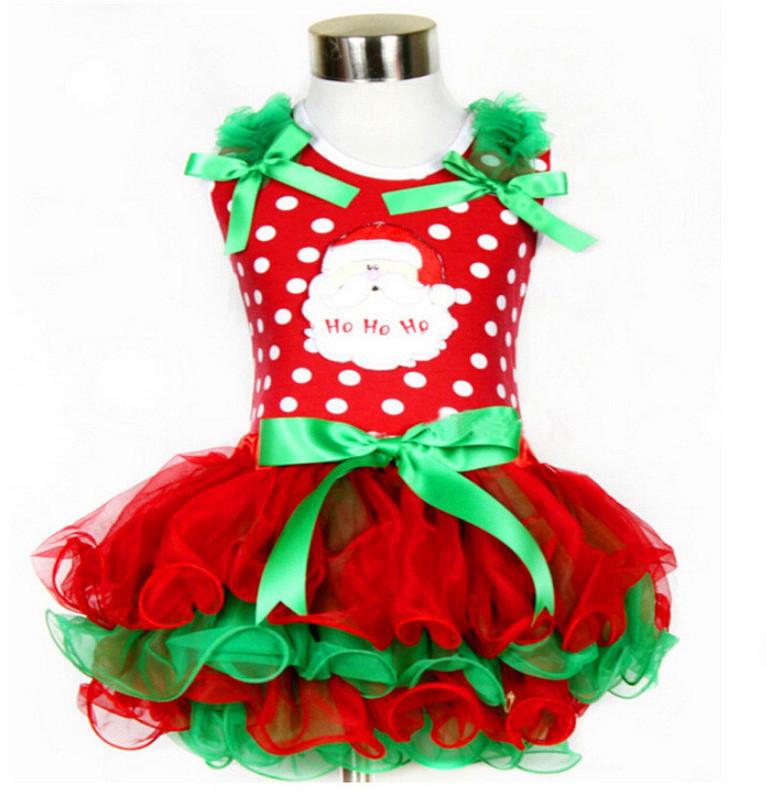 nios nias vestido de la navidad de santa claus tut vestido de ao nuevo ropa