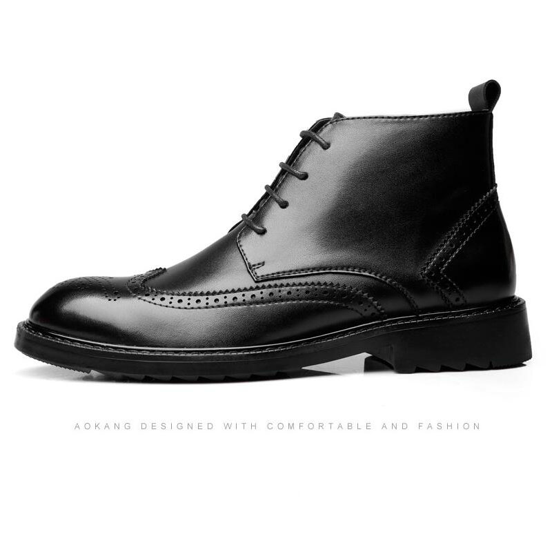YIGER Genuine Leather Boots for Men 18