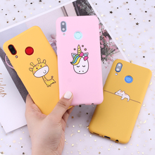 For Samsung S8 S9 S10 S10e Plus Note 8 9 10 A7 A8 Cute Cartoon Animals Unicorn Candy Silicone Phone Case Cover Capa Fundas Coque