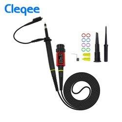 Cleqee p4100 1 pçs osciloscópio sonda 100:1 alta tensão suportar 2kv 100 mhz para osciloscópio owon liliput atacado