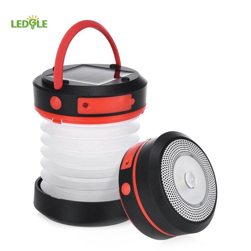 LEDGLE 1 Watt LED Solar Camping Licht Außenleuchten LED Taschenlampe Tragbare Laterne Mini Zelt Licht Notfall Lampe Taschenlampe