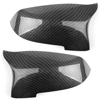 Areyourshop Car Carbon Fiber Door Side Mirror Cover Caps  For BMW F10 2014 2015 2016 ABS Plastic Auto Accessorie Parts