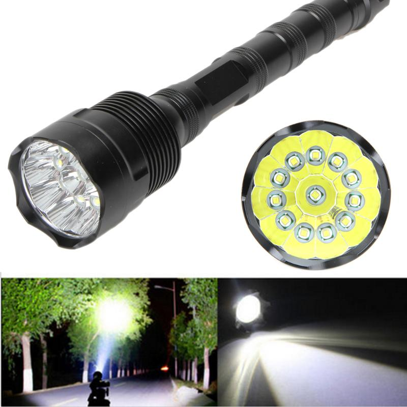 LED Flashlight 30000 Lumens 5 Mode CREE XML T6 18650 Super Bright Aluminum LED Flashlight for Outdoor Camping Hiking Fishing