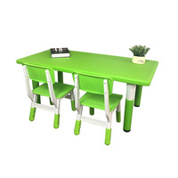 Kindergarten students'desks and chairs wholesale children's plastic rectangular thickening adjustable lifting desks and chairs