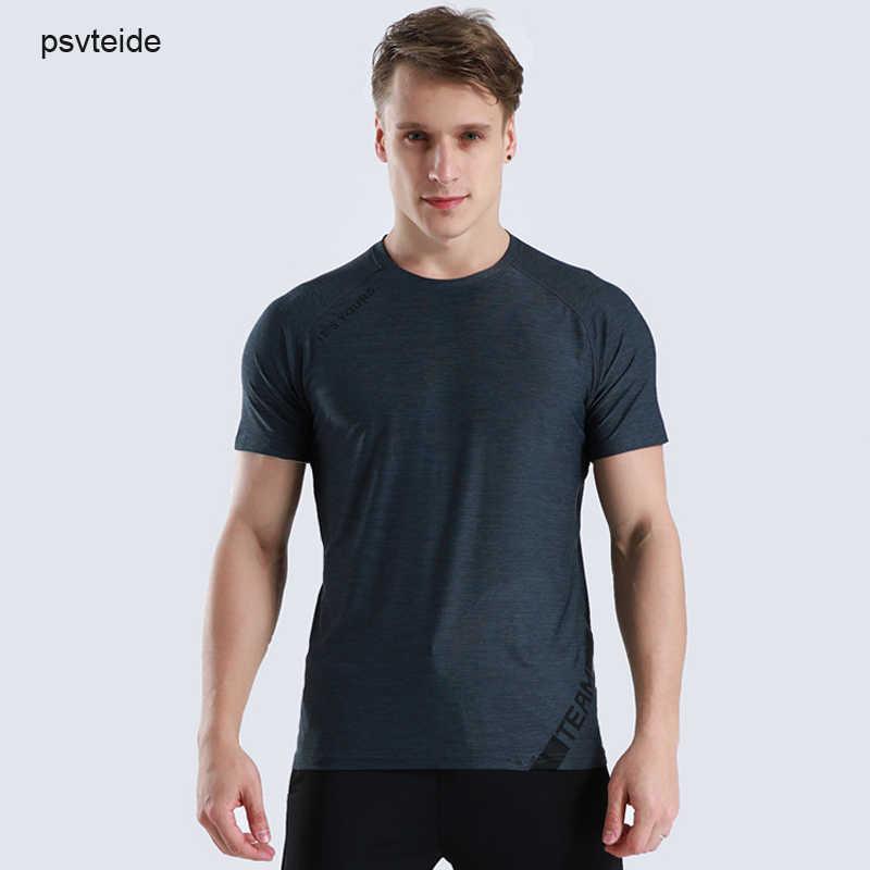 Pelatihan Pelatihan Tees Gym Jogging Kaos Olahraga Kemeja Pria Lengan Pendek Dryfit Kebugaran Olahraga Camiseta Latihan T Shirt CrossFit