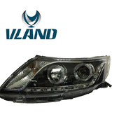 VLAND Factory For KIA K2 LED Headlight For 2012 2013 2014 With Angel Eyes H7 Xenon Lamp And Plug And Play Design Head Light