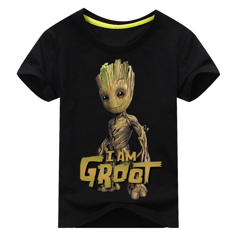 Kid//Youth I Am Gr-oOT T-Shirts 3D Short Sleeve Tees for Girls Boys