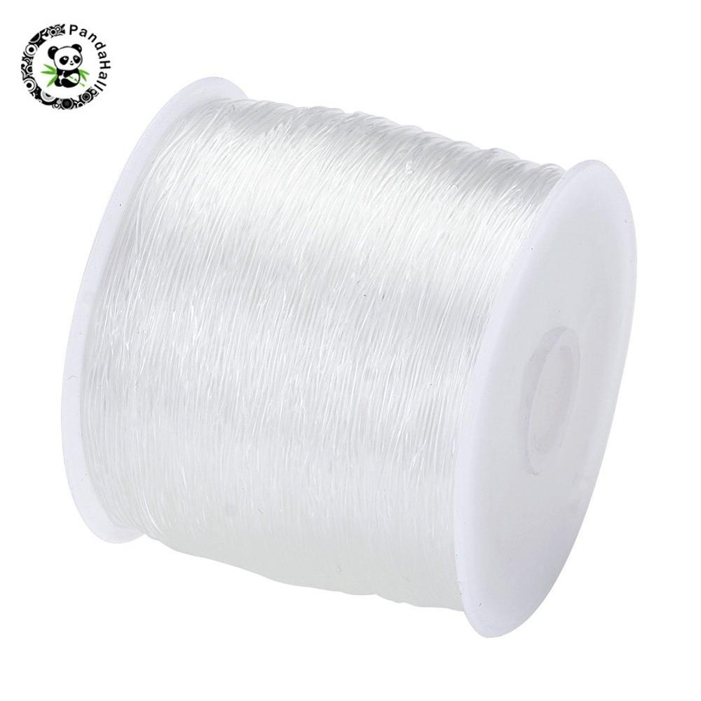 1 Roll Quality Clear Stretch Jewellery Beading Elastic Cord Thread 0.8mm