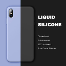 2019 New Full Covered Protector Case For iPhone 6 6s 7 8 Plus XS Max XR X Food Grade Liquid Silicone Anti-knock Back Cover