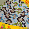 Chinese Manufacturerfabric Free Shipping Monkey Design Digital Print Minky Fabric For Baby Diaper Baby Boy Blanket