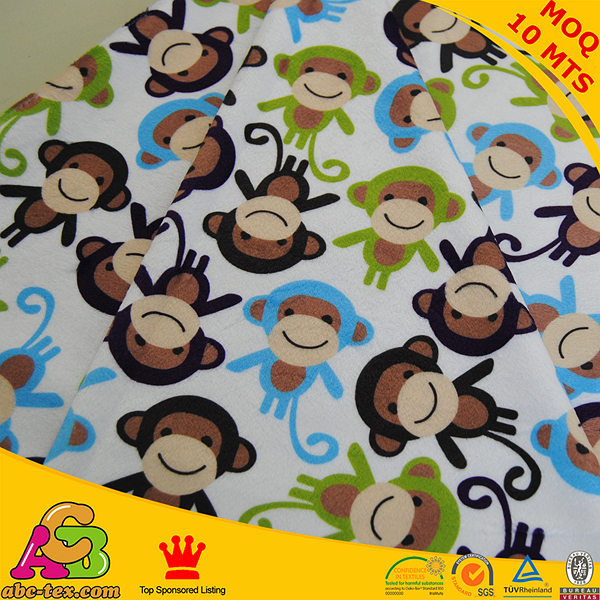 2017 popular baby fabric free shipping monkey design for Baby monkey fabric prints
