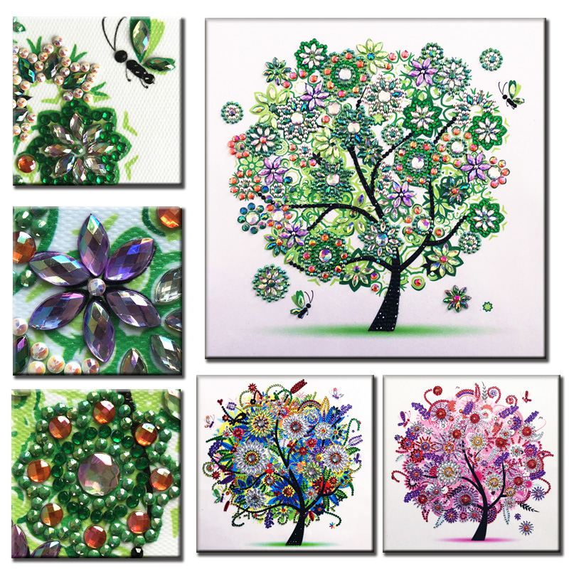 RUBOS DIY 5D Diamond Embroidery Colorful Tree Butterfly Bead Diamond Painting Cross Stitch Pearl Crystal Sale Hobby Gift Decor (1)