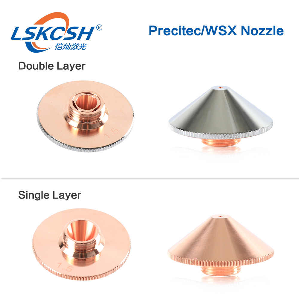 LSKCSH Precitec/WSX SIngle/double layer nozzle Dia 28 มม.0.8-5.0 มม.ใกล้เคียงกัน P0591-571-00010 precitec หัว agents wanted
