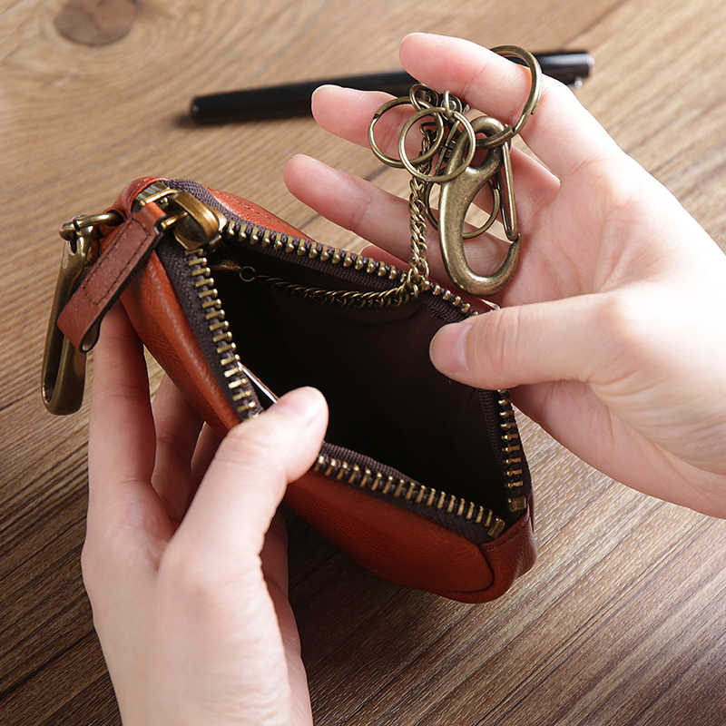 Nova Chegada Homens de Negócios Genuíno Couro de Vaca Bag Coin Purse Car Key Carteiras Moda Feminina Governanta Chave Titulares G6221