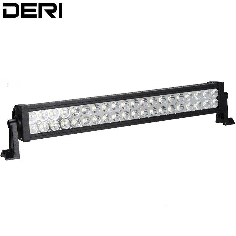 22inch 120W LED droite travail barre lumineuse conduite voiture camion SUV hors route feu anti-brouillard avec Kit de câblage sans fil télécommande isolateur
