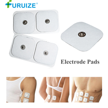 2Pair/4pcs Adhesive Gel Body Massage Electrode pads Digital Therapy Machine White Pad Medium Frequency massage