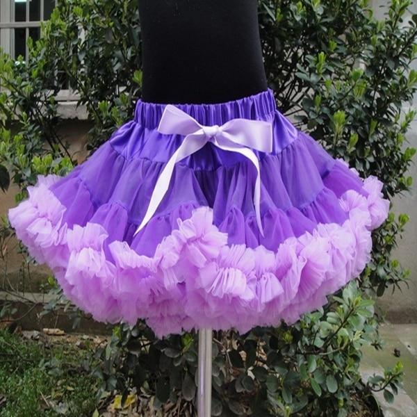 Baby And Children Girl Colorful Girls Fluffy Pettiskirts Chiffon Tutu Petti Skirt Princess Skirts PETS-074