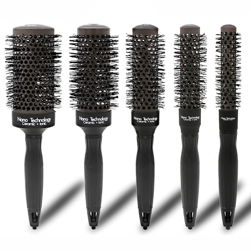 5pcs/set Heated Color Changing Barber Round Brush Ceramic Ionic Comb For Hair Dry Styling 5 Sizes Nano Thermal Hair Brush U12325pcs/set Heated Color Changing Barber Round Brush Ceramic Ionic Comb For Hair Dry Styling 5 Sizes Nano Thermal Hair Brush U1232