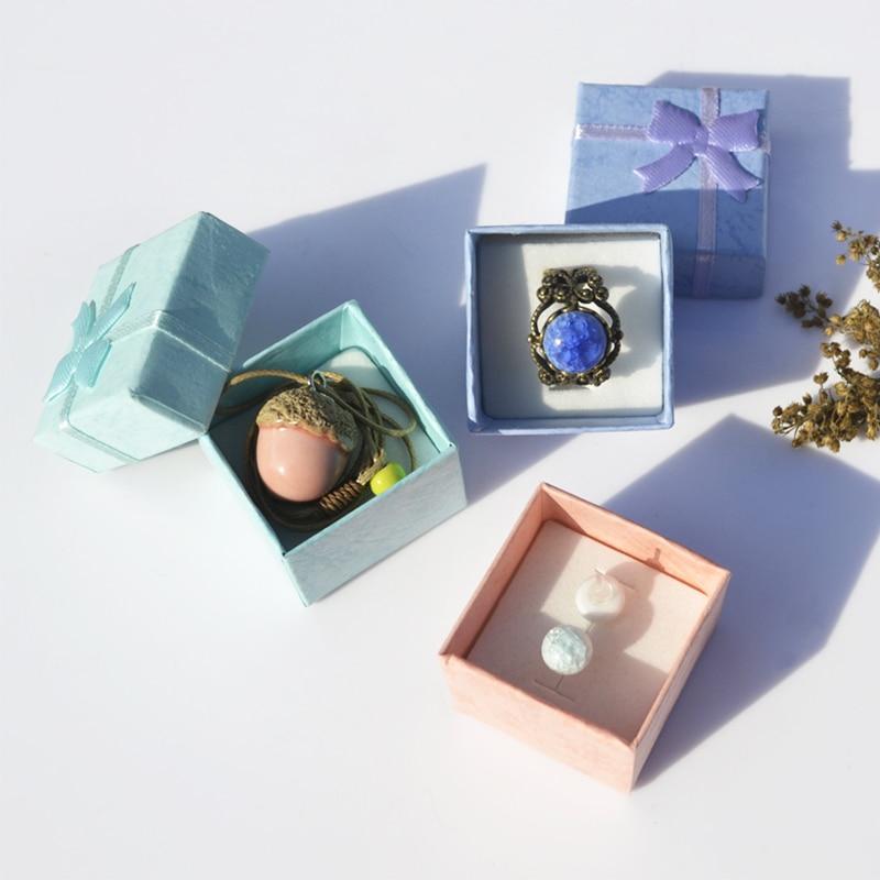 LNRRABC 44cm High Quality Jewery Organizer Box Rings Storage Box Small Gift Box For Rings Earrings Jewelry Packaging & Display