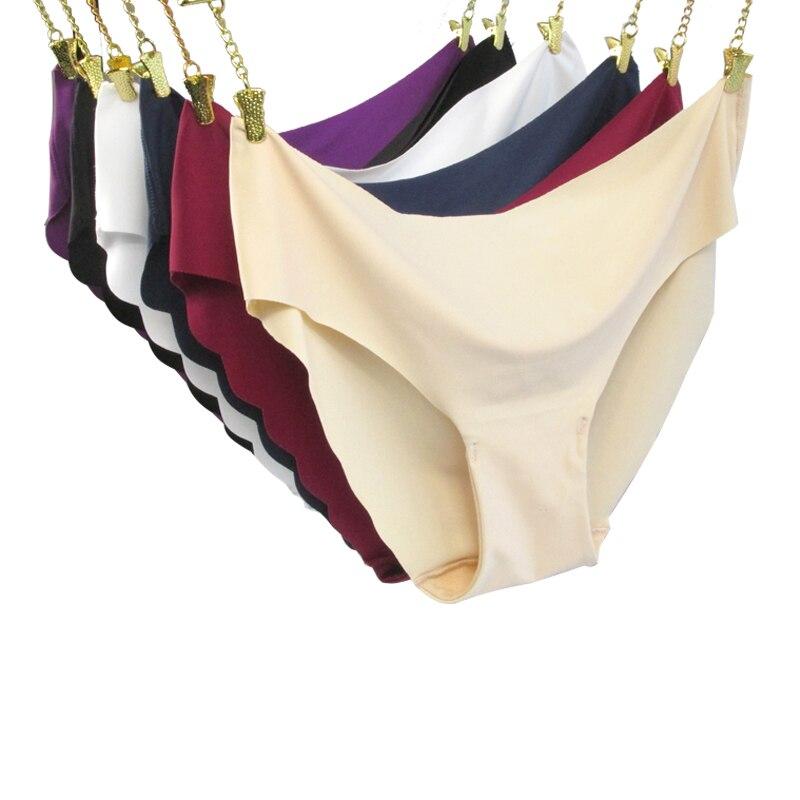 Women Panties Underwear Ultra-thin Viscose Seamless Briefs For Women's Comfort low-Rise Ruffles Sexy Lingerie Summer