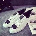 2017 unisex zapatos ocasionales respirables hombres amantes de la moda zapatos chaussure superestrella con cordones de los hombres zapatos clásicos zapatos blancos 39 ~ 44 tamaño