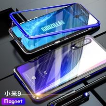 ADKO роскошный Магнитный Adorption Броня чехол для Xiaomi Mi 9 анти-капля Алюминиевый металлический задний Чехол для Xiaomi Mi 8 9 бампер