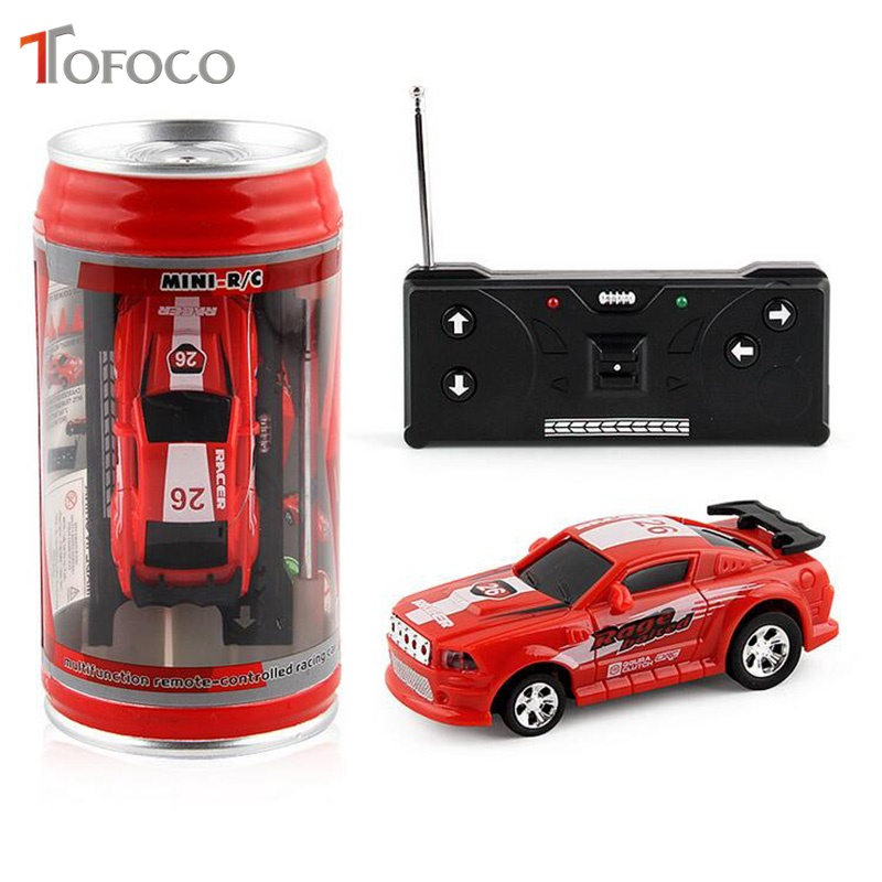 Kinderfahrzeuge Coke Can Mini Speed RC Radio Remote Control Micro Racing Car Toy Gift HOT SW