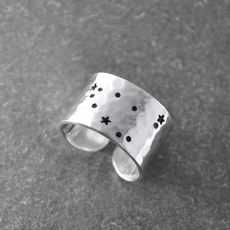 Capricorn Zodiac Constellation Ring,Capricorn ring, Capricorn birthday gift,Wide zodiac ring, Horoscope Ring, Astrology Jewelry